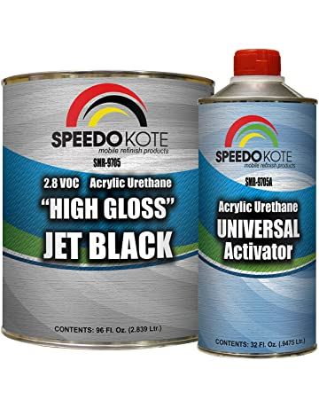 Speedokote High Gloss Jet Black 2K Acrylic Urethane, 3:1 Gallon Kit w/