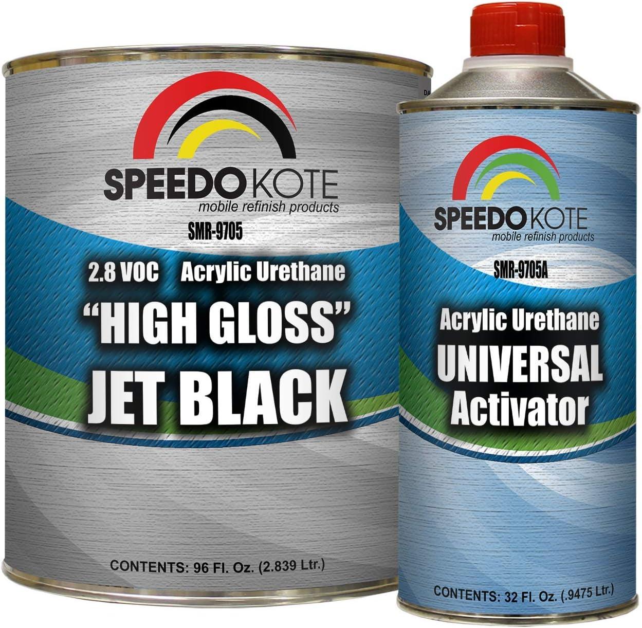 Speedokote High Gloss Jet Black 2K Acrylic Urethane