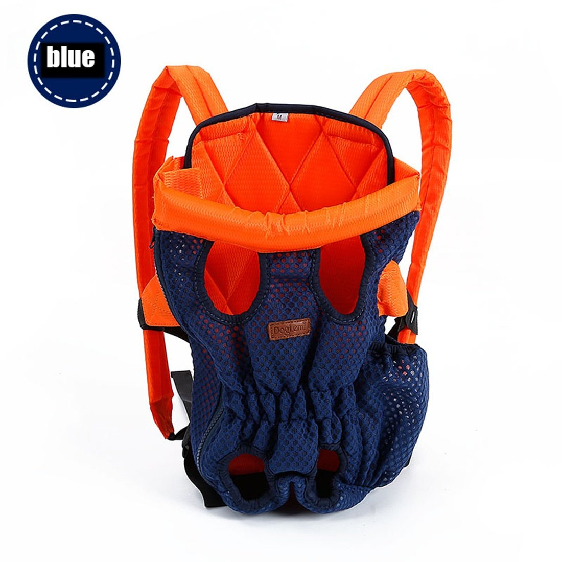 bluee MPet Backpack Carrier,Front Pet Dog Carrier Front Chest Backpack Pet Cat Puppy Tote Holder Bag Sling Outdoor, Black, L