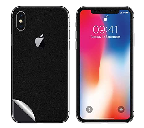 finest selection ead0e 64404 DBRAND Black Matte Split 3M Skin for Apple iPhone X: Amazon.in ...
