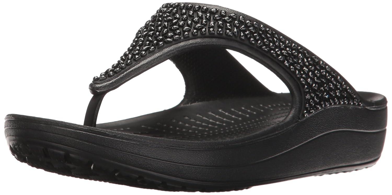 08e49093ea0 Crocs Women s s Sloane Embellished Flip Flops  Amazon.co.uk  Shoes   Bags