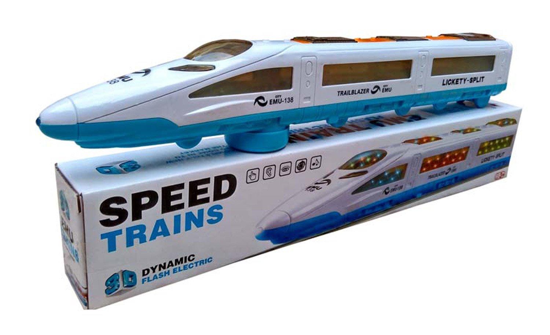 Jiada Emu Speed Train for Kids with 3D Lights & Music