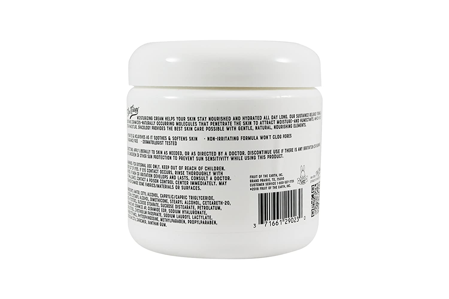 Spacology Moisturizing Cream, 16 Ounce Pack of 3