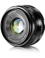 Neewer® 35mm f/1.7 Enfoque Manual Primer Lente Fija para OLYMPUS y PANASONIC APS-C Cámaras Digitales, Tal como OLYMPUS: E-M1/M5/M10, E-P5E-PL3/PL5/PL6/PL7, PANASONIC: GM1/2, GX1/2/7/8, GF5/6/7