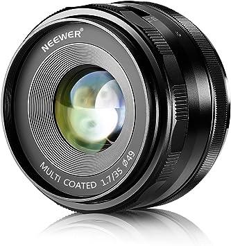 Cámara fija de Meike 35mm F1.4 Mirrorless primer lente de enfoque para Fujifilm X//Sony E M