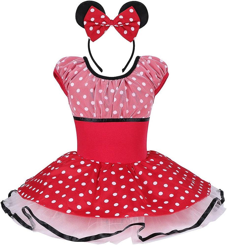 TFJH Vestido de Danza – Diadema Ballet Tutu Minnie Mouse Disfraz ...