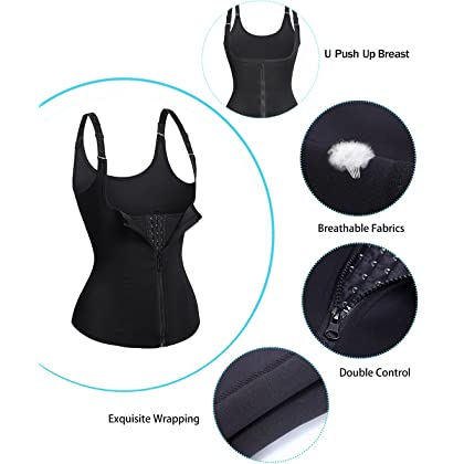 Uhren & Schmuck Women Waist Trainer Corset Bodysuit Zipper Multifunctional Vest Body Shaper Tank Top With Adjustable Straps U-shape Push Up Bra