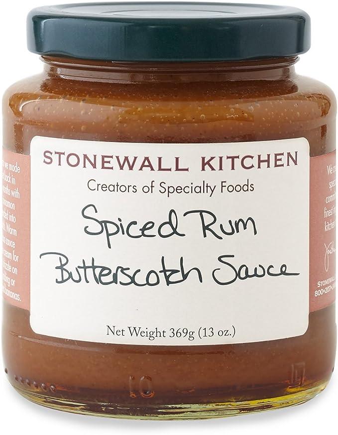 Stonewall Kitchen Salsa, caramelo Ron especiado, 13 onzas Marrón