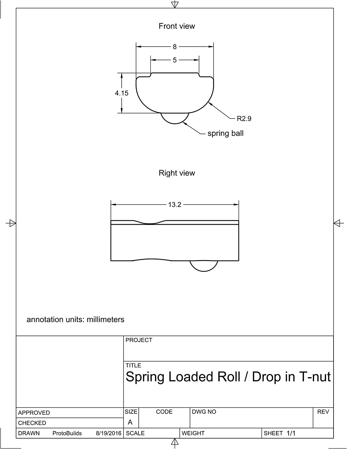 for 2020 50 Pack M5 Spring Roll//Drop in T Nut 20 Series T Slot Aluminum Extrusion Assembly
