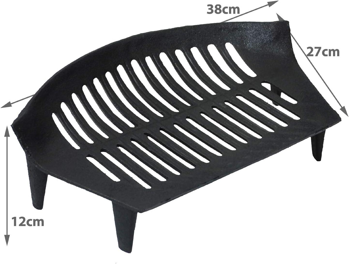 W x 31cm Sturdy Fireplace Accessory L x 44.5cm simpa Hamptons LARGE Black Fire Coal Log Grate Basket 18cm H