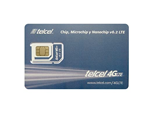 telcel mexico prepaid sim card with 4gb data lte 3 in 1 fits all devices - Prepaid Data Only Sim Card