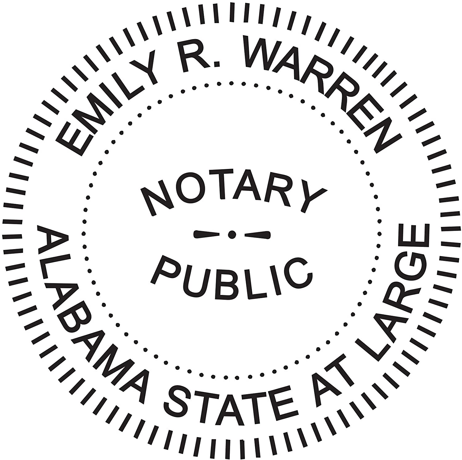 Alabama Pre-Inked OFFICIAL NOTARY SEAL RUBBER STAMP Office use Notary