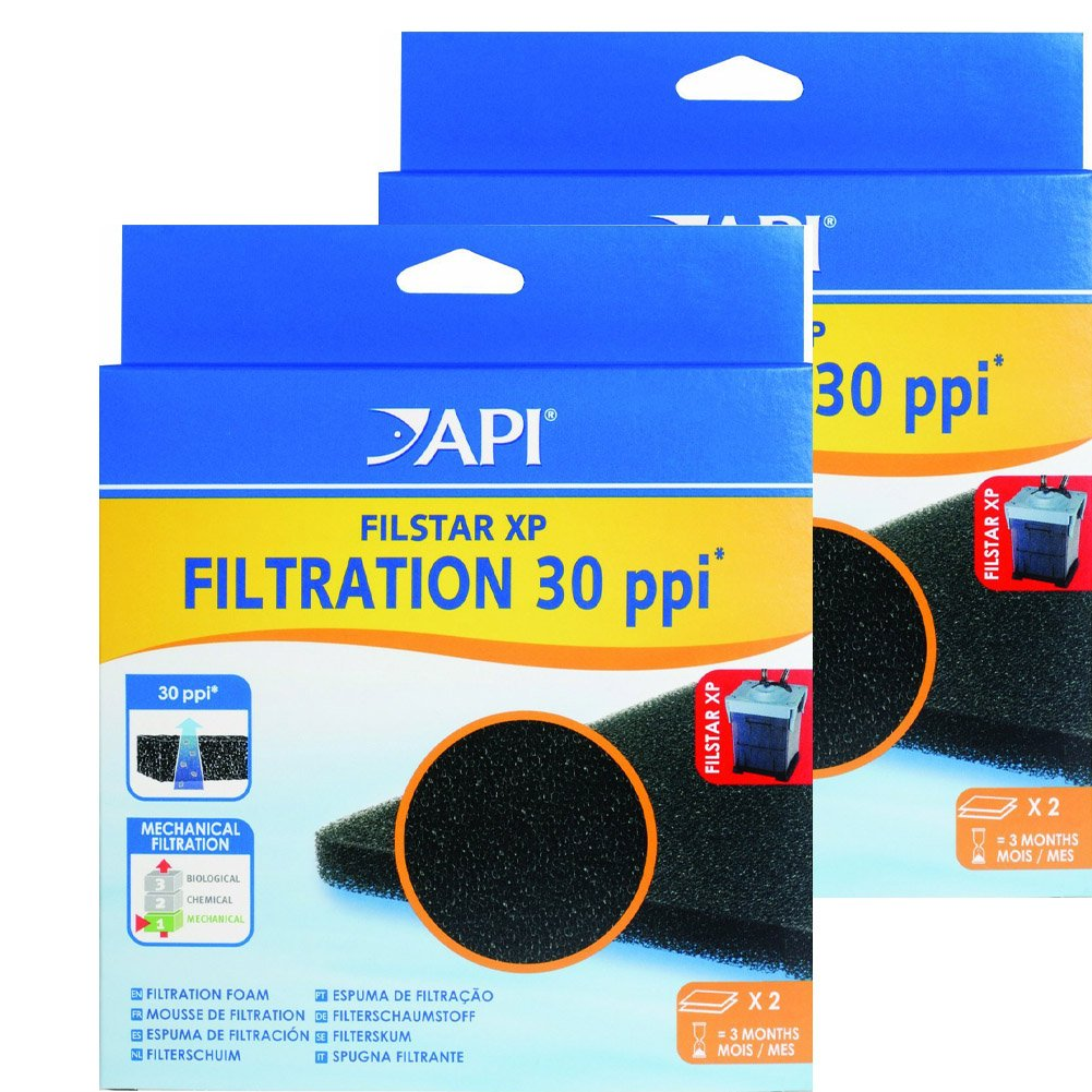 (4 Count) API Filstar XP Filter Filtration Foam 30, 2-Count