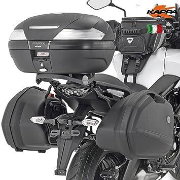 Kappa - Klx4114 Soporte para Maletas Laterales Kawasaki versys 650 (2015): Amazon.es: Coche y moto