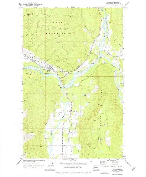 Amazon.com : YellowMaps Deming WA topo map, 1:24000 Scale, 7.5 X 7.5 on