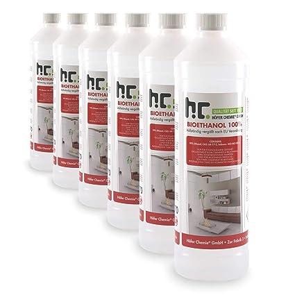 Hervorragend Höfer Chemie 6 L Bioethanol 100% Premium (6 x 1 L) für Ethanol KR15
