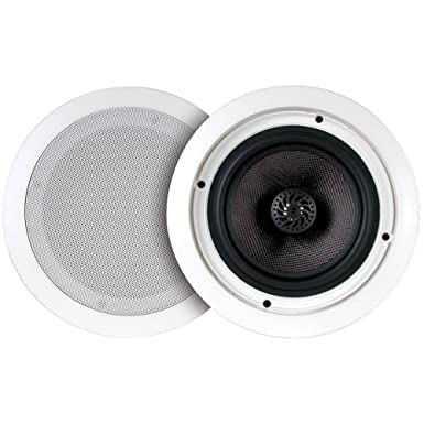 6&quot; Ceiling Speaker Pair-with 30W Stereo Amplifier and Bluetooth <span at amazon