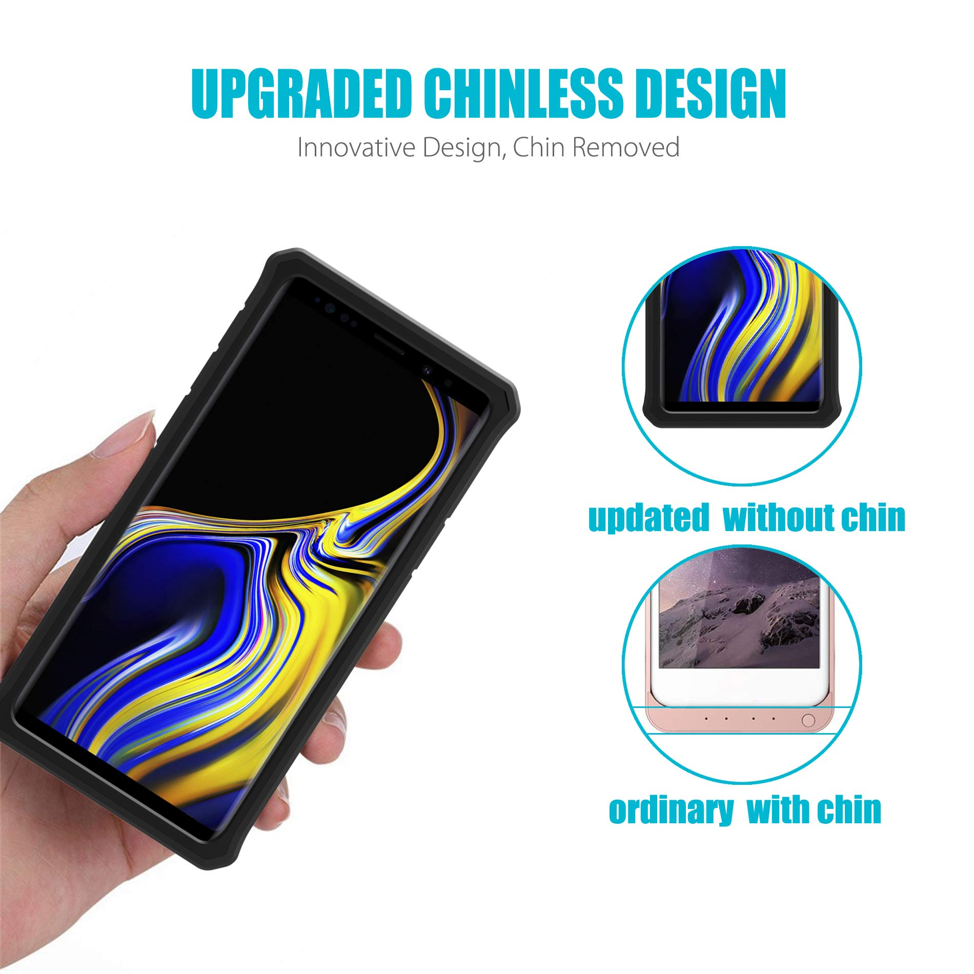 Galaxy Note 9 Battery Charging Case, ZeroLemon ZeroShock 10000mAh Extended Rechargeable Battery Rugged Case with Full Edge Protection for Samsung Galaxy Note 9 - Black by ZEROLEMON (Image #6)