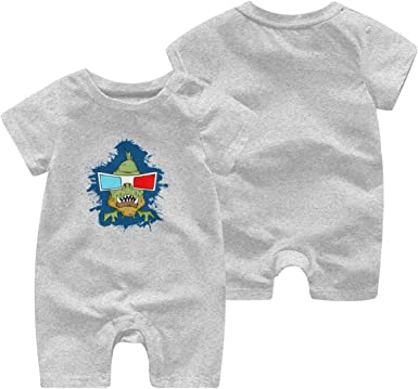 Toddler Baby Boy Girl Short Sleeve Jumpsuit LGBT Flag Wolf Baby Clothes