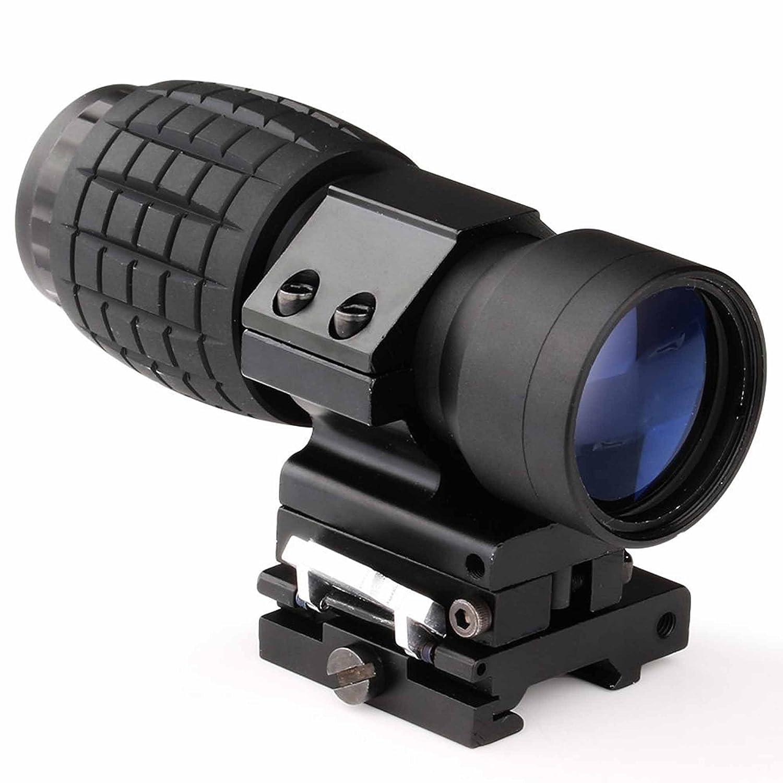 MAYMOC 3 X lupa alcance vista con tapa para montaje en carril lateral 20mm Weaver, rápido separar FTS