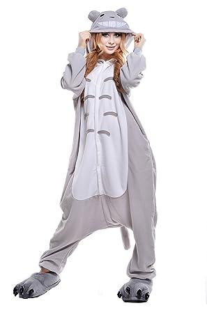 Amazon.com: Totoro adulto Animal Unisex disfraz de Kigurumi ...