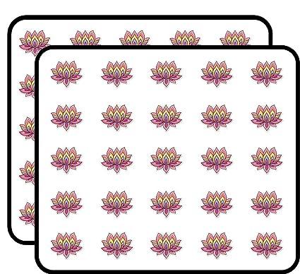Amazoncom Lotus Flower Cute Om Yoga Meditation Sticker For