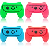 FYOUNG Hand Grips Compatible with Nintendo Switch/Switch OLED Model Controller, Grip Handle Kit Compatible with Joycons (4 Pa