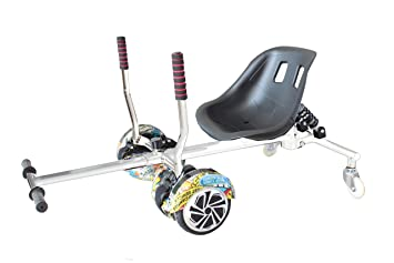 Sumun Sbkssl Asiento Kart Hoverboard, Blanco/Negro, 6.5 ...