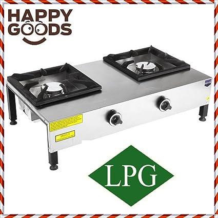 Amazon.com: Commercial Kitchen Equipment RANGETOP 2 BURNER ...