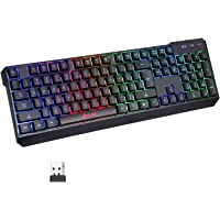KLIM™ Chroma Wireless Keyboard US Layout + Slim, Durable, Ergonomic, Quiet, Waterproof, Silent Keys + Backlit Wireless…