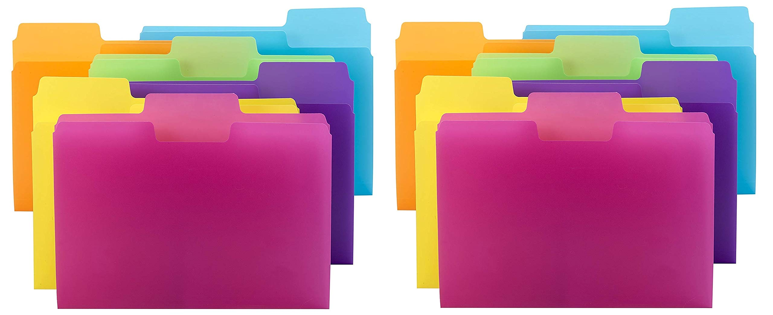 Smead SuperTab File Folder, Oversized 1/3-Cut tab, Letter Size, Poly, 18 per Pack (10515) - 2 Pack by Smead