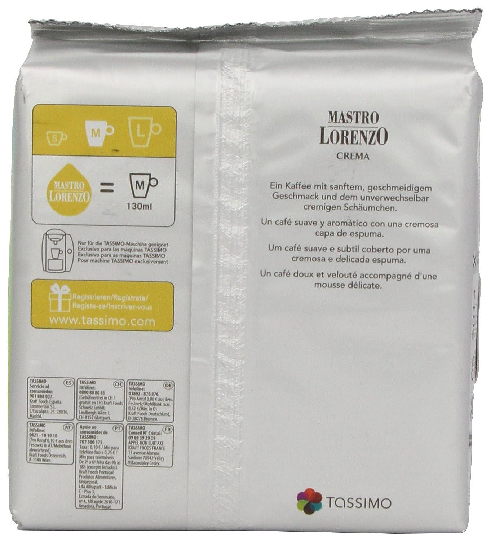 Amazon.com : Tassimo Mastro Lorenzo Crema Coffee T-Discs : Coffee Substitutes : Grocery & Gourmet Food