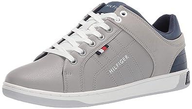 Tommy Hilfiger Men's Samir Sneaker, Grey 9.5 Medium US