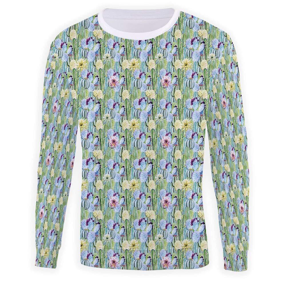 MOOCOM Unisex Cactus Sweatshirts Crewneck