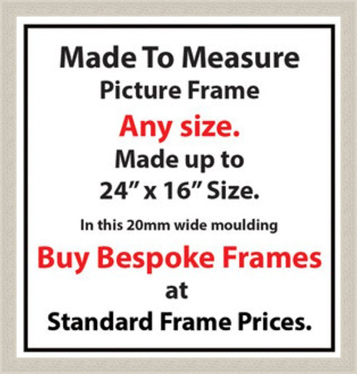 Picture Frames Online Made to size, Bespoke made to measure picture ...