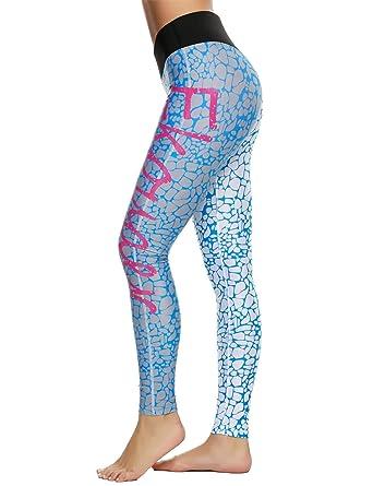 60e5e6376a Coorun Femme Legging Serré Yoga Jogging Taille Haute Couleur Gradient:  Amazon.fr: Vêtements et accessoires