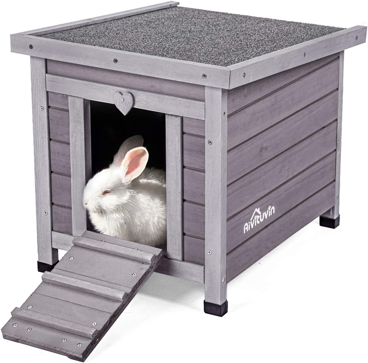 Aivituvin Wooden Dog Cat House Outdoor And Indoor Feral Pet Houses With Stairs For Dogs Insulated