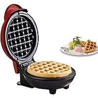 Mini Waffle Maker,Non Stick Pancake Cake Snacks Hash Browns Breakfast Portable Making Machine Red 350W