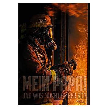 Feuerwehr Poster HOFFNUNG & VERANTWORTUNG Wandbild Querformat 100 x 70 cm Sammeln & Seltenes Polizei & Behörden