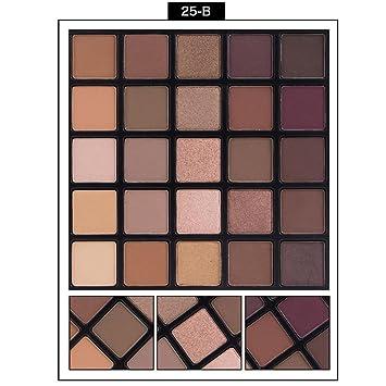 Paleta de maquillaje con 25 sombras de ojos mate y brillantes de Rawdah