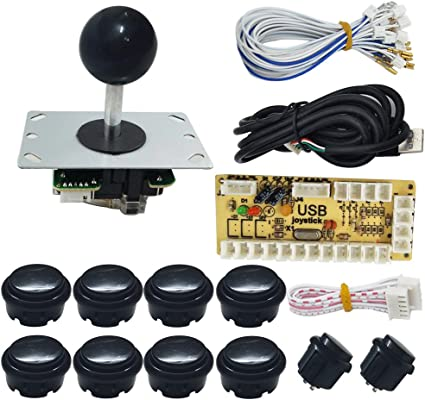 Arcade Competition 4-8 Way Stick With Start Push Buttons To USB Joystick MAME