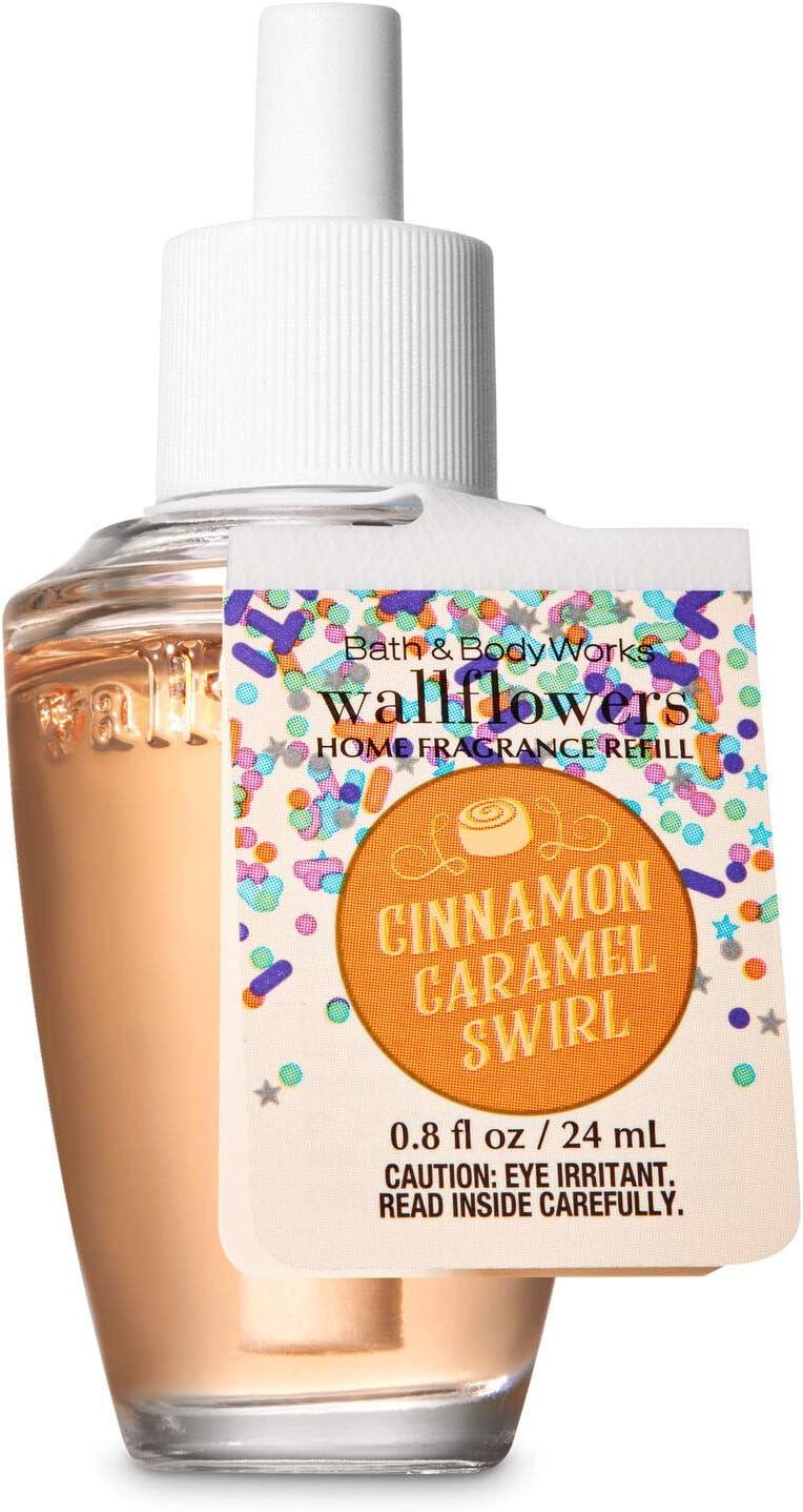 White Barn BBW Cinnamon Caramel Swirl Wallflowers 4pk Fragrance Refill 2019