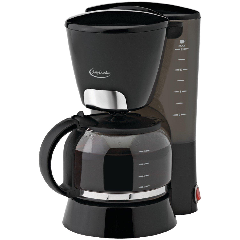 Betty Crocker BC-1723CB 8-Cup Coffee Maker, Black