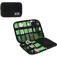 CoWalkers Organizador de Viaje Bolsa Portable,Organizador de Viajes Universal Cable Accesorios de Electronica de los Casos de Varios USB, Telefono, Cargador Cable, Negro