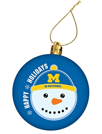University of Michigan Holiday Christmas Ornament, Design 1 - Blue - Amazon.com : University Of Michigan Holiday Christmas Ornament