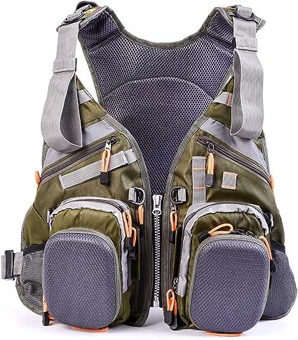 Adjustable Fly Fishing Vest Fishing Backpack Outdoor Backpack Bag USA Seller