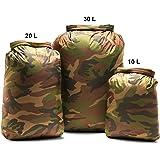 Aqua Quest Rogue Dry Bags - 100% Waterproof - 10, 20, 30 L - Camo or Olive Drab