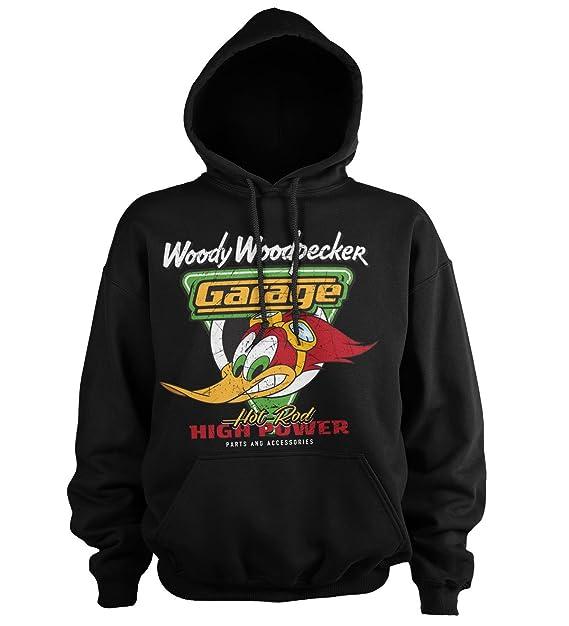 Woody Woodpecker Oficialmente Licenciado Garage Sudaderas con Capucha: Amazon.es: Ropa y accesorios