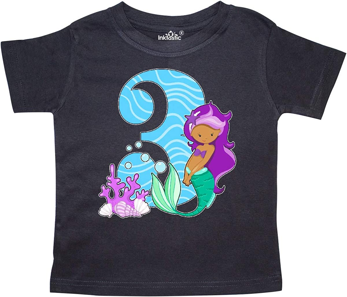 inktastic Third Birthday Mermaid Toddler T-Shirt