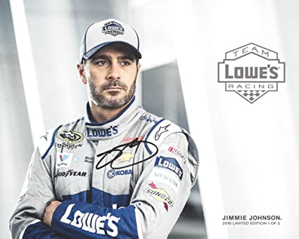 38a58877c8c80 AUTOGRAPHED 2016 Jimmie Johnson  48 Team Lowes Racing LIMITED EDITION 1 2  (Hendrick